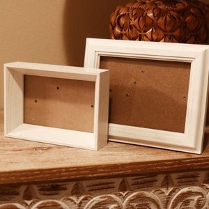 Other - Set of 2 Matching White Wood Picture Frames
